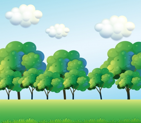 Illustration of the green trees Stock Vector - 18549584