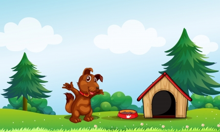 Illustration of a playful brown puppy Stock Vector - 18549501