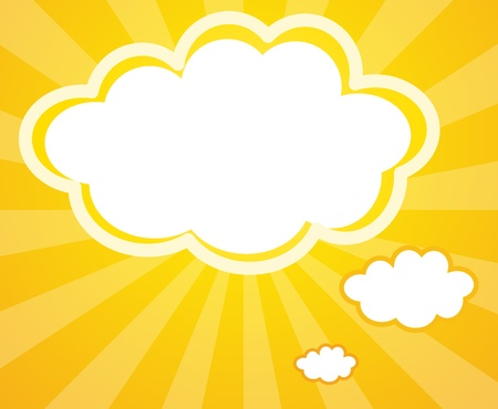 thought clouds: Illustration of an empty cloud notes