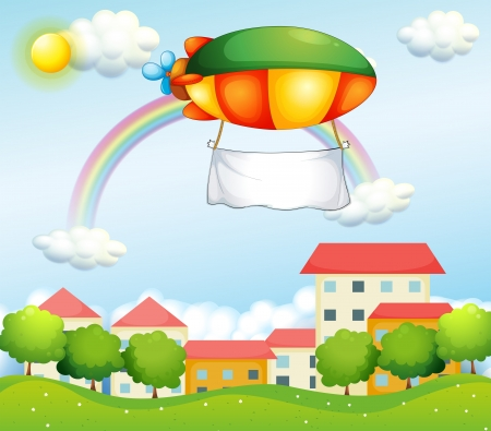 blimp: Illustration of a plane with an empty banner