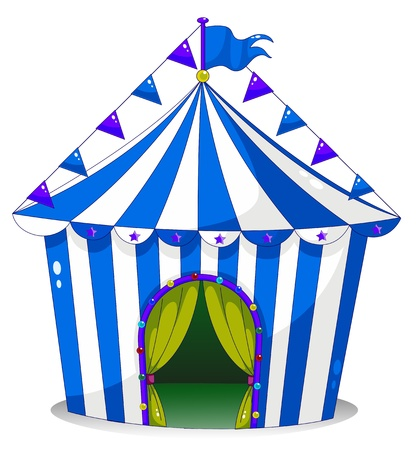 Illustration of a circus tent on a white background Vector