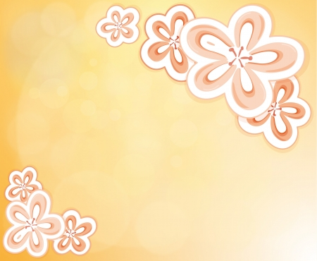 art supplies: Illustration of a flowery designed stationery Illustration
