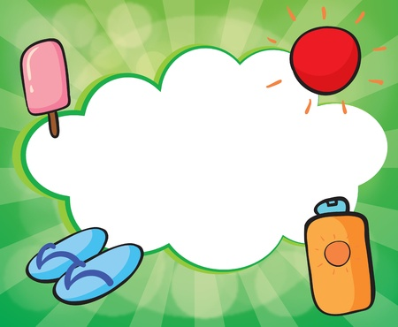 Illustration of an empty cloud template for summer Stock Vector - 18607796