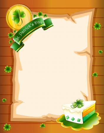Illustration of a blank paper with St. Patrick's Day greeting Stock Vector - 18610719