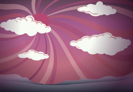 stratus: Illustration of the clouds in the sky