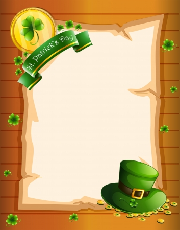 Illustration of a blank sheet for St. Patrick's Day Stock Vector - 18610759