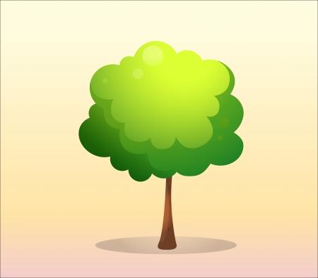 arboles frondosos: Ilustración de un árbol verde