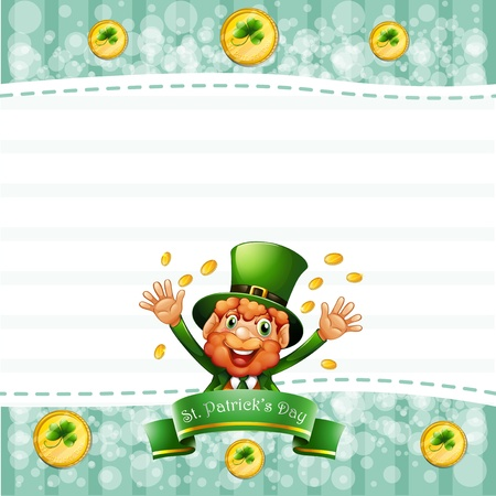 feast of saint patrick: Illustration of a stationery for St. Patricks day with an old man
