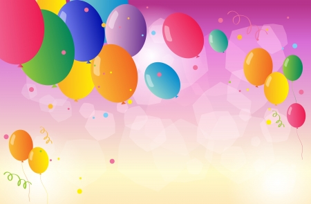 Illustration of the colorful party balloons Stock Vector - 18715931