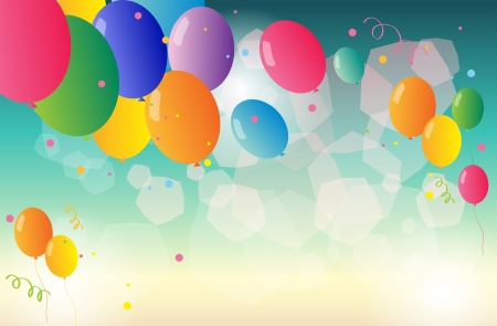 occassion: Illustration of a group of colorful balloons
