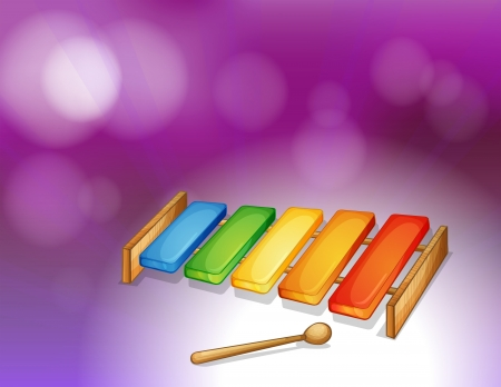 xylophone: Illustration of a colorful xylophone