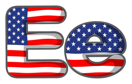 Illustration of United states letter of the alphabet Vector