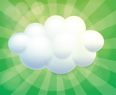 pic: Illustration of a cloud-designed empty template