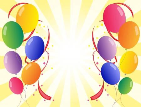 office party: Ilustraci�n de un dise�o de fondo con globos de colores Vectores