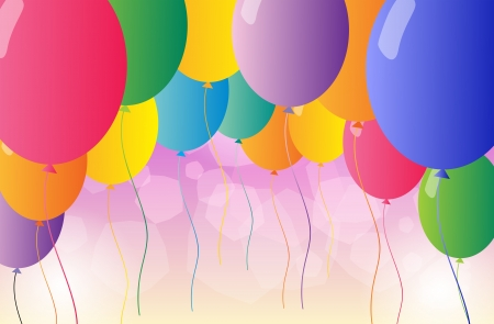 picure: Illustration of the colorful party balloons