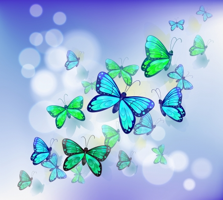 Illustration of the butterflies in a stationery Vector