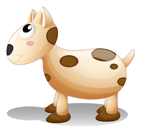 bestfriend: Illustration of a toy puppy on a white background Illustration