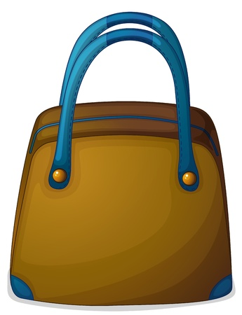 Illustration of a bag with a blue handle on a white background Vector
