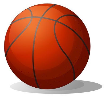 basketball ball: Illustration of a basketball ball on a white background Illustration