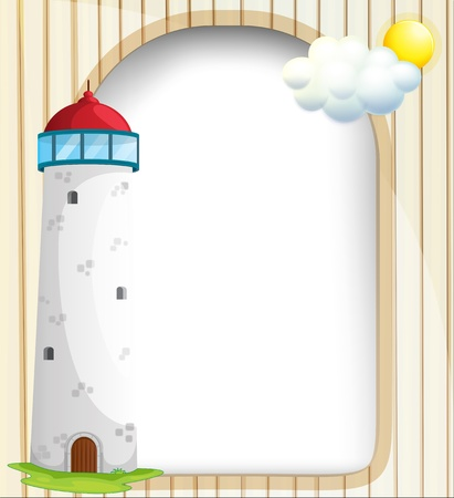 Illustration of an empty template at the back of a tower