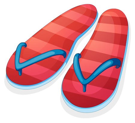 houseshoe: Illustration of a pair of red slippers on a white background