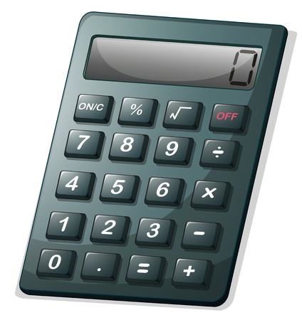 compute: Illustration of a calculator on a white background