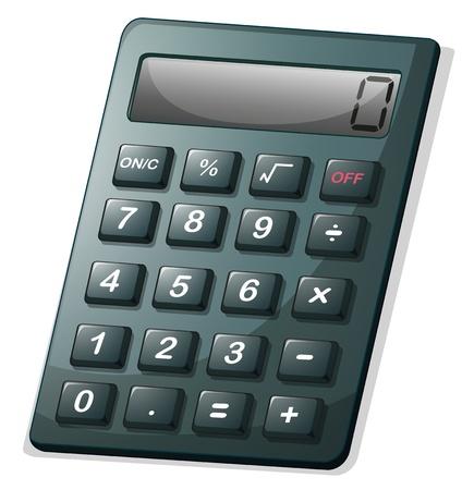 Ilustración de una calculadora en un fondo blanco