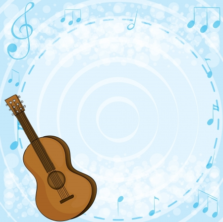 Illustration of the brown classical guitar Stock Vector - 18834058