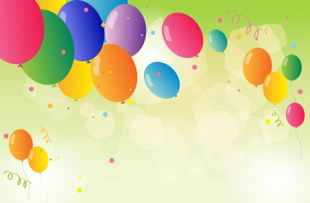 occassion: Illustration of the beautiful colorful balloons Illustration
