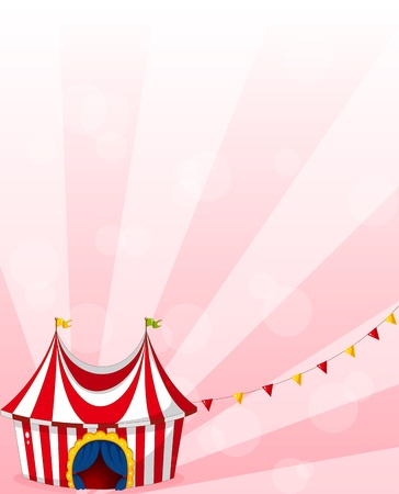 Illustration of a stationery with a circus tent design Vector