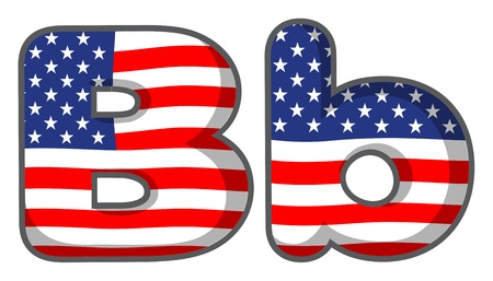letters clipart: Illustration of United states letter of the alphabet Illustration