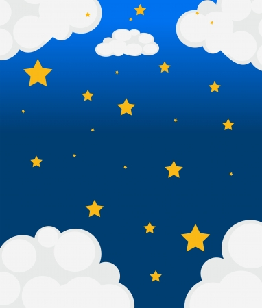Illustration of the stars in the sky Illustration