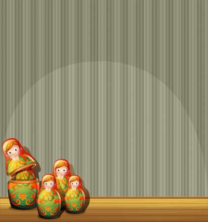 centerstage: Illustration of the four Russian dolls at the stage