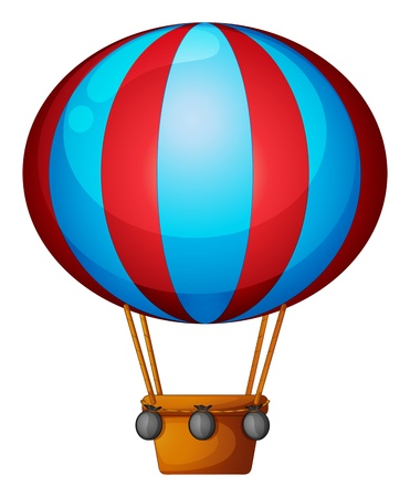 hot line: Illustration of a hot air balloon on a white background Illustration