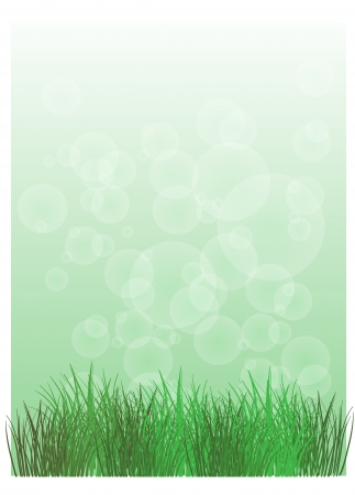 Illustration of a stationery with green grass on a white background  Vector