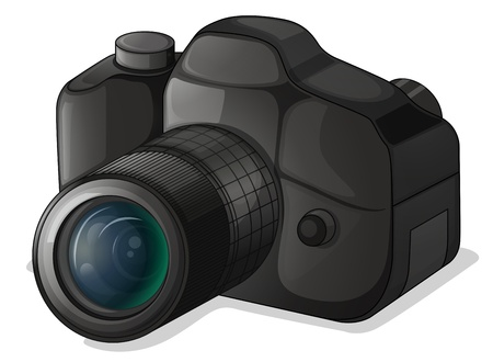 captivate: Illustration of a camera on a white background
