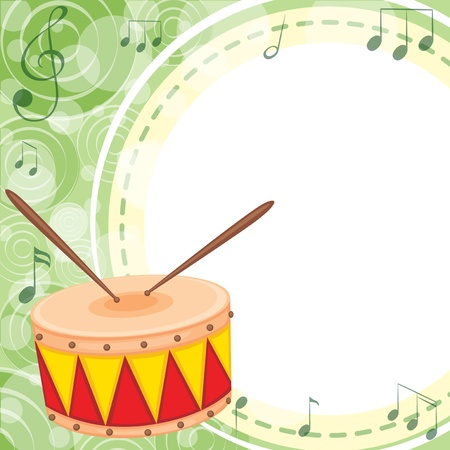 drumming: Illustration of an empty space with a drum Illustration