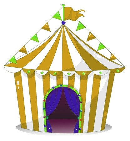 Illustration of a big circus tent on a white background Stock Vector - 18859577