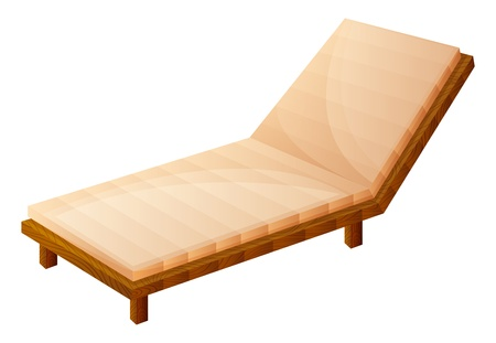 Illustration of a relaxing wooden bench on a white background