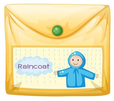rain coat: Illustration of a plastic envelope on a white background