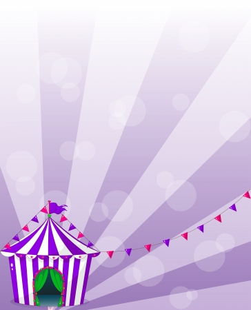Illustration of a violet circus tent  Vector