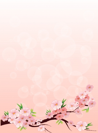 Illustration of a flowery designed paper Vector