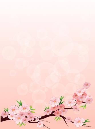flowery: Illustration of a flowery designed paper Illustration