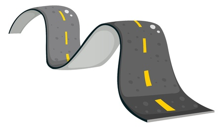 Illustration of a narrow road on a white background Vector