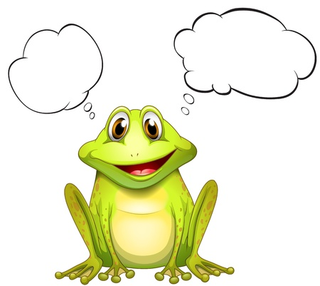 Illustration of a frog with an empty thought on a white background Stock Vector - 18860228