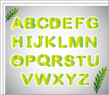 Illustration of a paper with the letters of the alphabet Vector