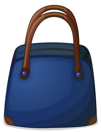 handy: Illustration of a handy blue bag on a white background