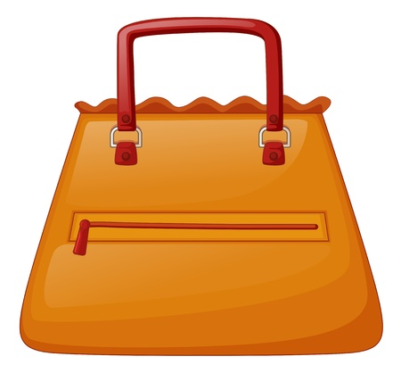 Illustration of an orange bag on a white background Vector