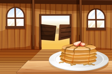 melaware: Illustration of the pancakes in a plate