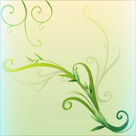 crawling: Illustration of a green vine leaf border design